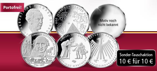 10 Euro Gedenkmünzen 2014