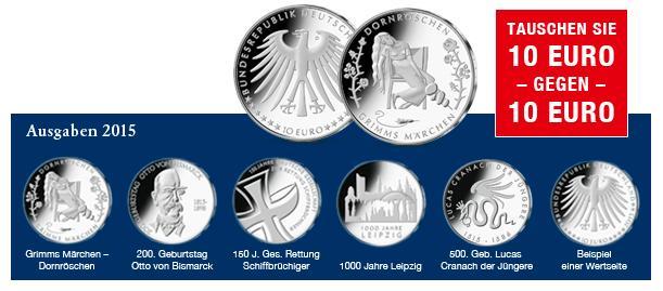 10 Euro Münzen 2015