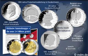 10 Euro Münzen 2010 Übersicht