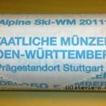 25x 10 Euro Ski WM Rolle F Stuttgart