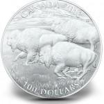 100 Dollar Bison Silbermünze