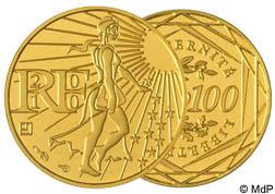 100 Euro Gold 1/10 Unze Die Säerin Frankreich 2010