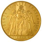 1000 Euro Herkules Goldmünze 2013