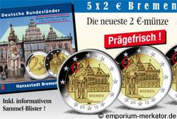 2 Euro Bremer Rathaus und Roland Bundesland Serie 2010