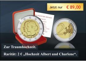 2 Euro Münze Hochzeit Monaco