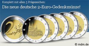 2 Euro Sondermünze Kölner Dom 2011