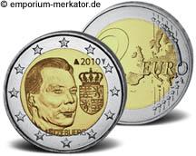 2 Euro Luxemburg 2010 Wappen des Großherzogs Henri