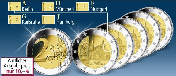 2 Euro Münze Maulbronn 2013
