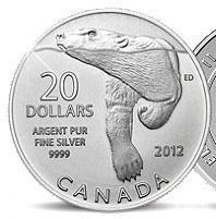 20 Dollar Polarbär Silbermünze