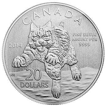 20 Dollar Silbermünze Rotluchs