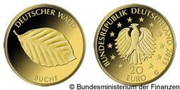 20 Euro Gold Münze Deutschland Buche 2011 Deutscher Wald