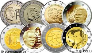 Alle 2 Euro Gedenkmünzen Luxemburg Bis 2009 Münzangebote