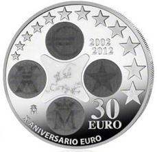 30 Euro Silbermünze Spanien 2012