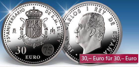 30 Euro Silbermünze Spanien 2013