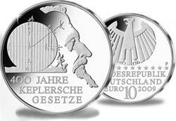10 Euro Keplersche Gesetze / Kepler