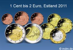 Kursmünzensatz Estland Eesti 2011