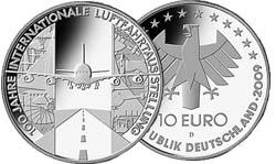 10 Euro Internationale Luftfahrtausstellung