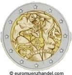 2 Euro Sondermünze Italien - 60 Jahre Menschenrechte