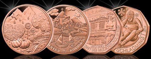 Österreich Kupfermünzen 2012