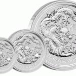 Silbermünze Lunar Drache 2012