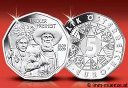 5 Euro 200 Jahre Freiheit Tirol