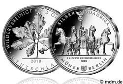 1 Unze Silber Quadriga Volksunze 2010