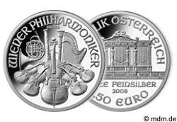 1 Unze Silber Wiener Philharmoniker