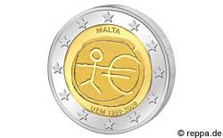 2 Euro Gedenkmünze Wirtschafts- und Währungsunion (WWU) 2009 Malta